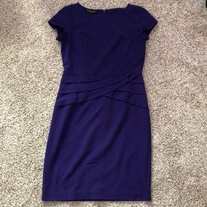 Size 6 purple a-line career dress